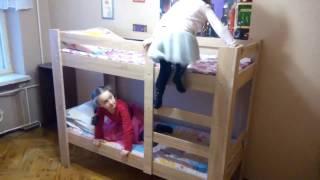 як зробити 2 ярусні ліжко