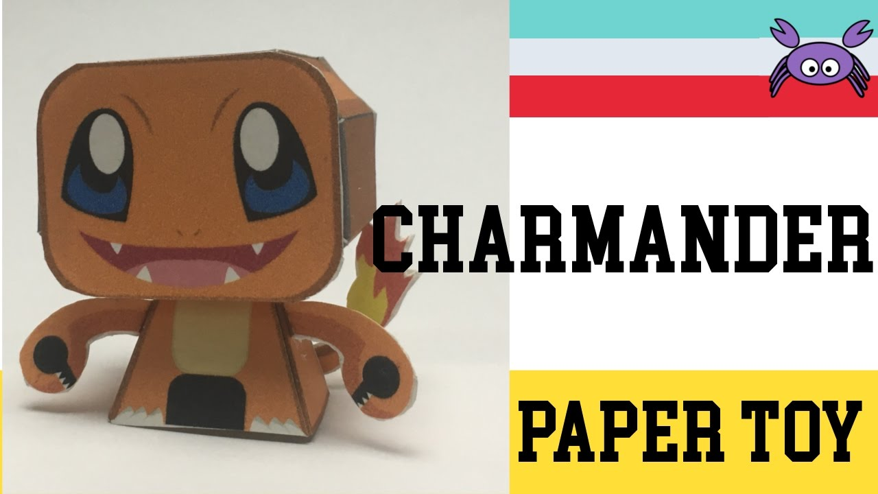How To Make A Pokemon Charmander Paper Toy Papercraft Free Template By Becks Junkie