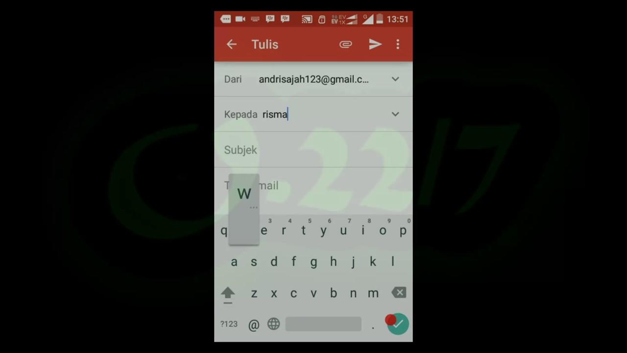 cara membuat surat lamaran lewat hp android