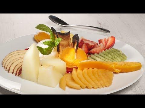Receta de Plato de frutas y helados con galleta de Bruno Oteiza