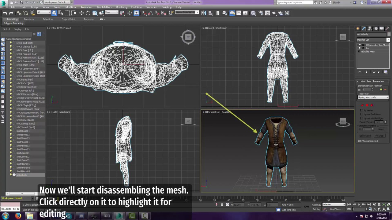 Skyrim + 3ds Max - Creating a Modular Mesh