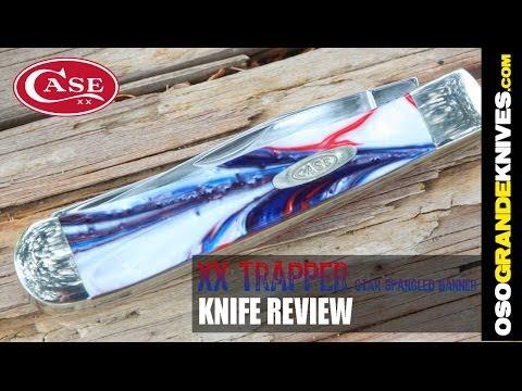 Case XX Trapper Star Spangle Banner Pocket Knife Review   OsoGrandeKnives