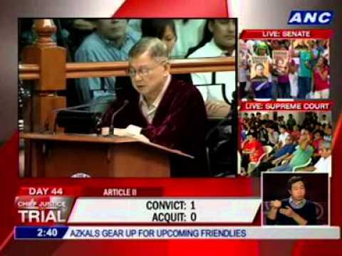 Arroyo: I vote to ACQUIT.