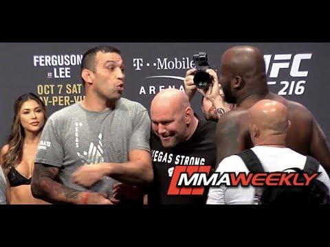 Derrick Lewis Gets in Fabricio Werdum's Face at UFC 216 Ceremonial Weigh-in