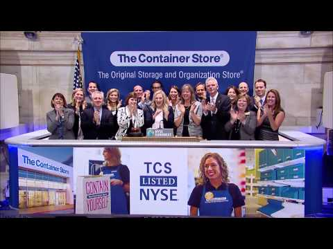 The Container Store celebrates their IPO - YouTube