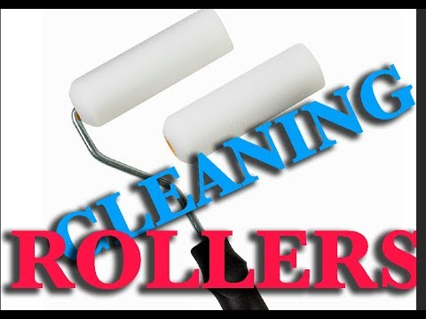 HOW TO CLEAN A PAINT ROLLER FROM LOSE HAIR