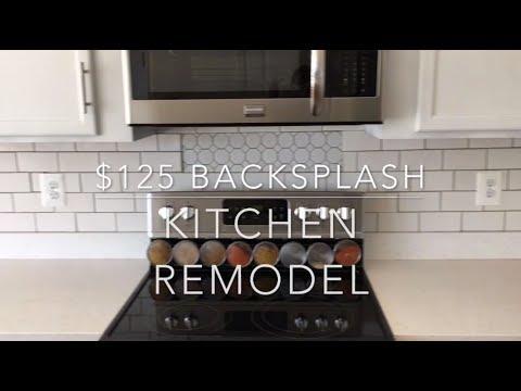$125 Kitchen Backsplash