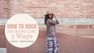 how to rock the 70s boho chic trend 3 ways