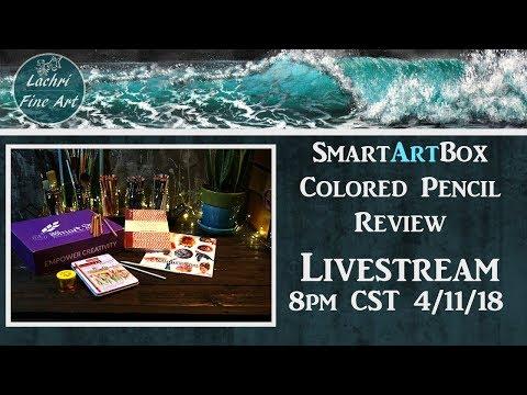Colored Pencil & Paper Review - Smart Art Box Livestream w/ Lachri