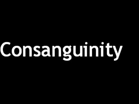 How to Pronounce Consanguinity
