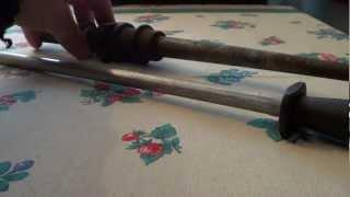 веретено с ткацкого станка как мусат для ножей