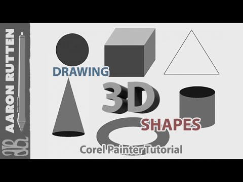 corel painter tutorial how to draw 3d shapes youtube. Black Bedroom Furniture Sets. Home Design Ideas