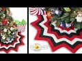 12 Point Christmas Tree Skirt Crochet Pattern & Tutorial
