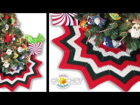 Crochet Christmas Tree Skirt Tutorial - Happy Holidays Everyone!