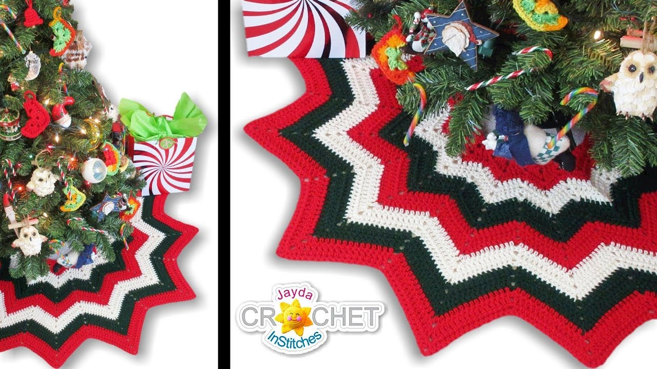 Crochet Christmas Tree Skirt Tutorial Happy Holidays Everyone