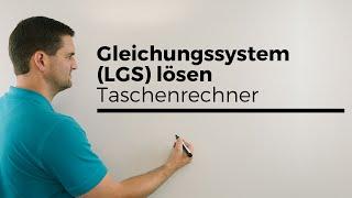 Gleichungssystem (LGS) lösen mit Taschenrechner, Casio fx, 3X3, 3 Unbekannte, Mathenachhilfe
