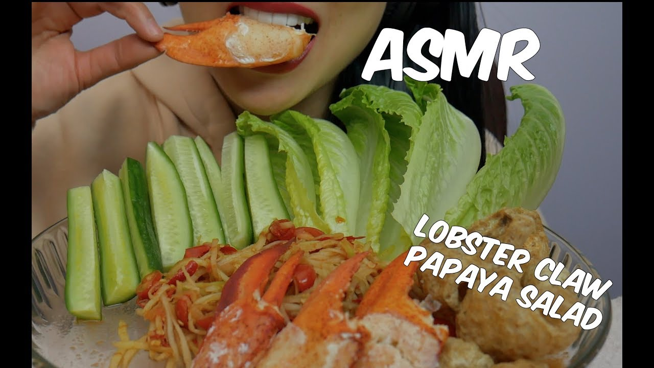Asmr À¸ À¸™à¸ª À¸¡à¸•à¸³ À¸ À¸²à¸¡à¸ À¸‡ Lobster Claws Papaya Salad Thai With English Subs Eating Sounds Sas Asmr Youtube Asmr thai spicy seafood boil eating sounds no talking sas asmr загрузил: asmr ก นส มตำ ก ามก ง lobster claws papaya salad thai with english subs eating sounds sas asmr