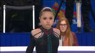 Камила Валиева Произвольная программа Чемпионат России по фигурному катанию 2021 Второе место