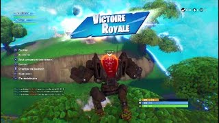 FORTNITE 1 GAME + 1 ROBOT = TOP 1 TROP CHEAT !!!