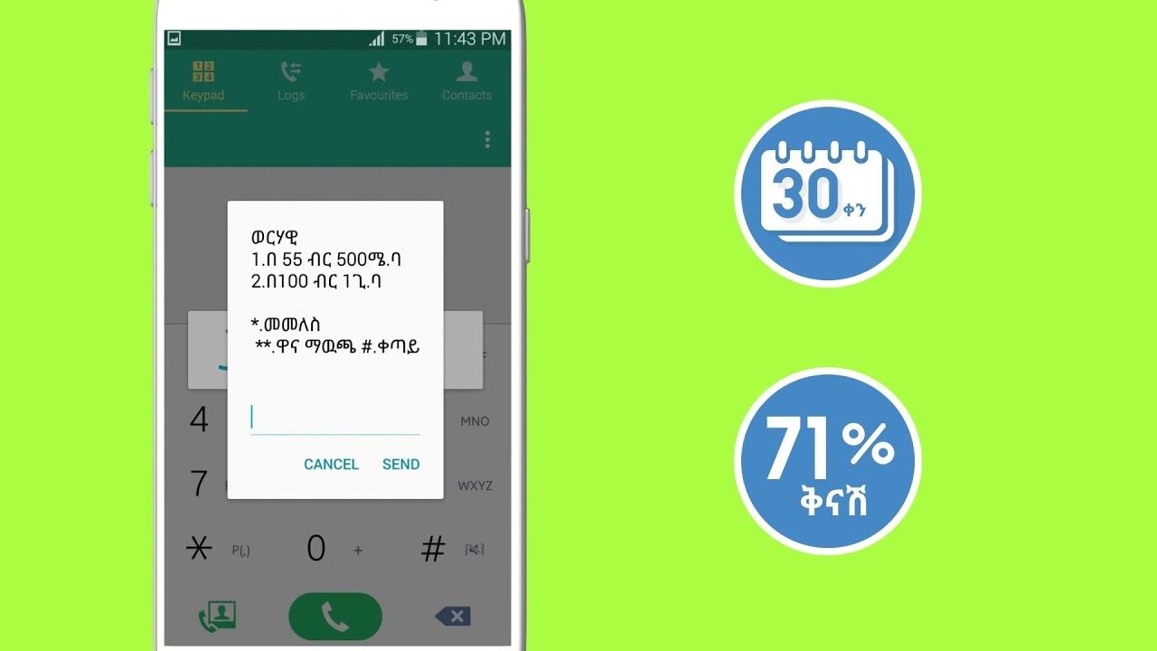 Ethio Telecom Internet package
