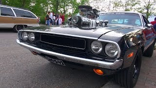 SUPERCHARGED 572 HEMI Dodge Challenger - Amazing V8 Sound!