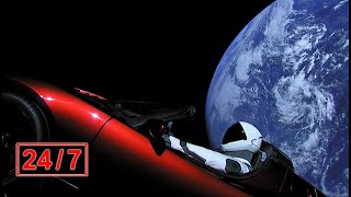 🚀 Relaxing Ambient Music + beautiful Earth views from Tesla Roadster in space