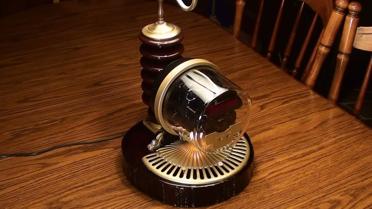 Steampunk Electric Meter Lamp