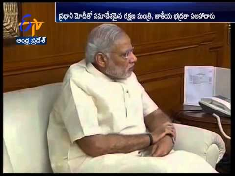 PM Modi Meets Defence Minister Parrikar & National Security Adviser Ajit Doval