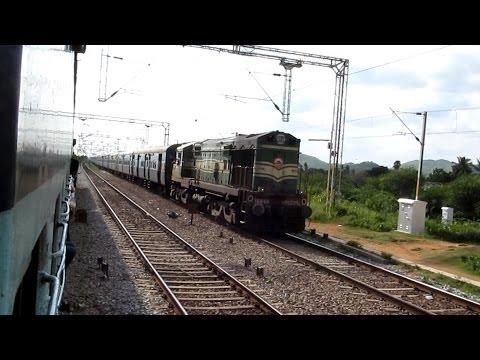 22606 villupuram - puruila weekly sf exp with GOC WDM2A 16880