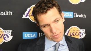 Luke Walton On Lonzo Ball / Postgame Interview / LA Lakers vs Heat