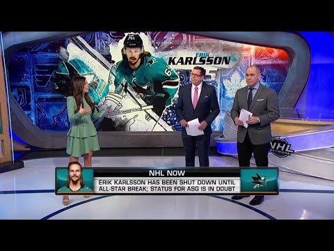 NHL Now:  Erik Karlsson shut down until ASG with undisclosed injury  Jan 21,  2019