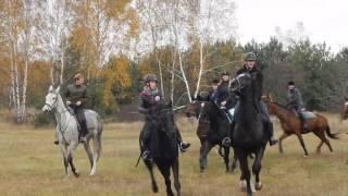 Hubertus 5.11.2016r - Stajnia Konie na Nieboskłonie - Gonitwa w kłusie