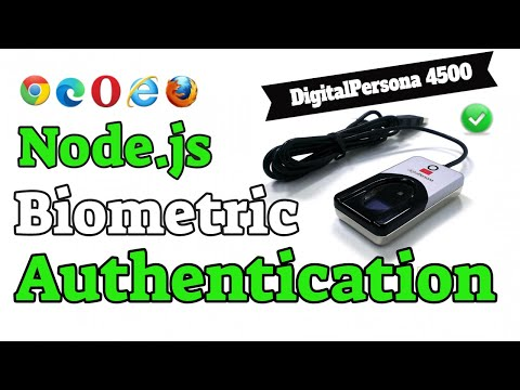 NodeJS Biometric Fingerprint Capture and Authentication using a DigitalPersona 4500 Finger Scanner