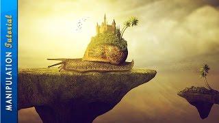 Photoshop Manipulation Tutorial: Castle Of Snail - Photoshop CC