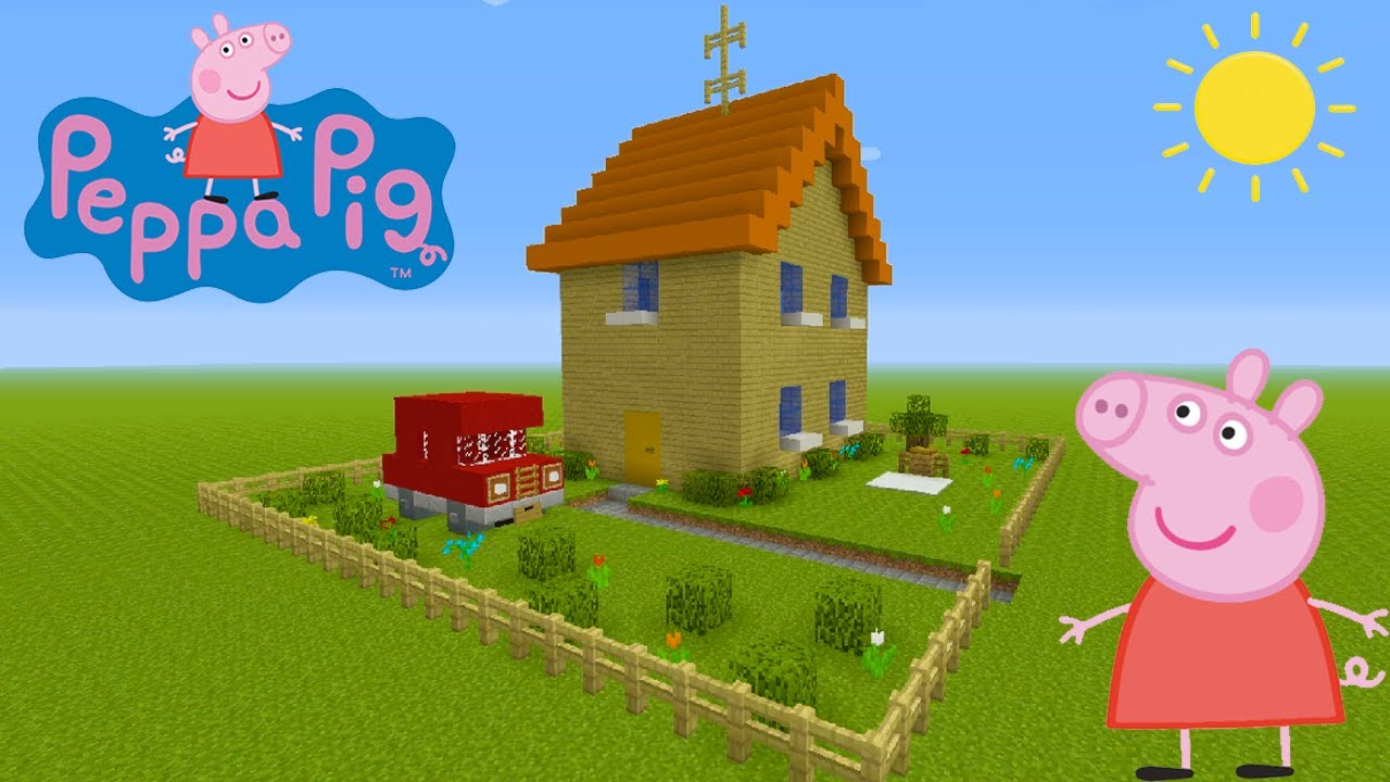 Minecraft Tutorial How To Make Peppa Pigs House Peppa Pig