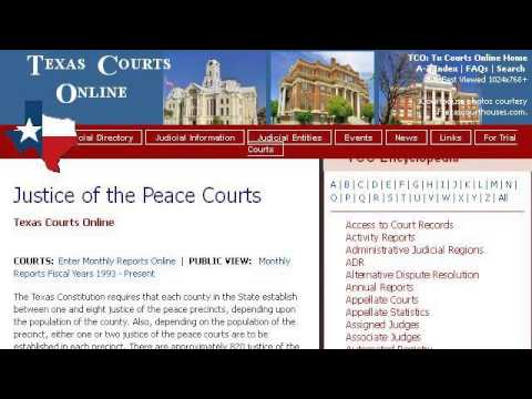 Rules Of The Justice Of The Peace In Texas