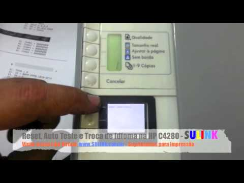 Reset, Troca de Idioma e Auto Teste da HP C4280 C4480 C4580 - SULINK