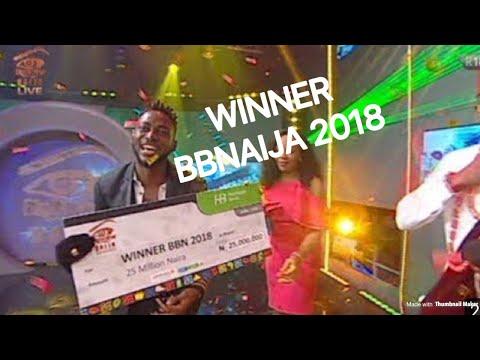 BBNAIJA 2018:MIRACLE EMERGE WINNER OF BIG BROTHER NIGERIA 2018 + CEECE 1ST RUNNER UP
