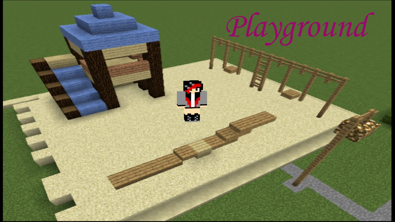 Minecraft How To Build A Playground YouTube