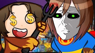 Zombey & GermanLetsPlay bewerfen sich gegenseitig mit Geld. ☆ Bloons Tower Defense 5