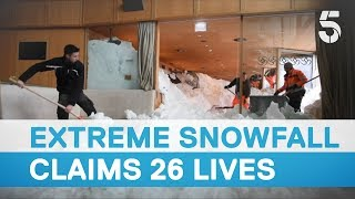Extreme snowfall in the Alps claims 26 lives - 5 News