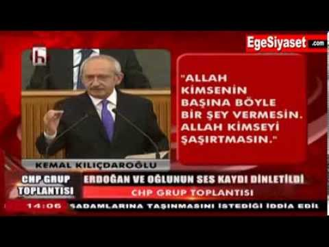 Kemal Kılıçdaroğlu ses kayıtlarını dinletti, Meclis TV Yayın Kesti