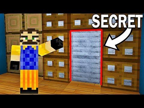 PERSONNE NE PEUT VOIR LE PASSAGE SECRET DE MON VOISIN ! | Hello Neighbor Minecraft