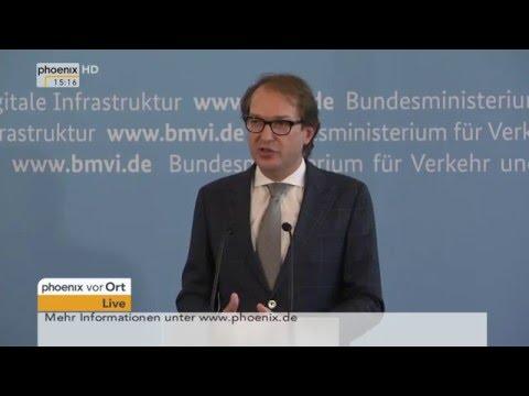 Diesel-Abgastest: Alexander Dobrindt stellt Ergebnisse vor am 22.04.2016