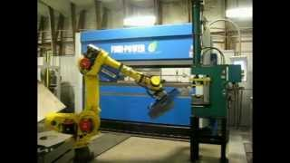 Automatic Robot Cell Makes Mower Deck - Prima Power Bending Machine