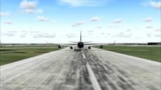 Microsoft Flight Simulator 2004 Airbus A340 departing Frankfurt/Main Airport [HD]