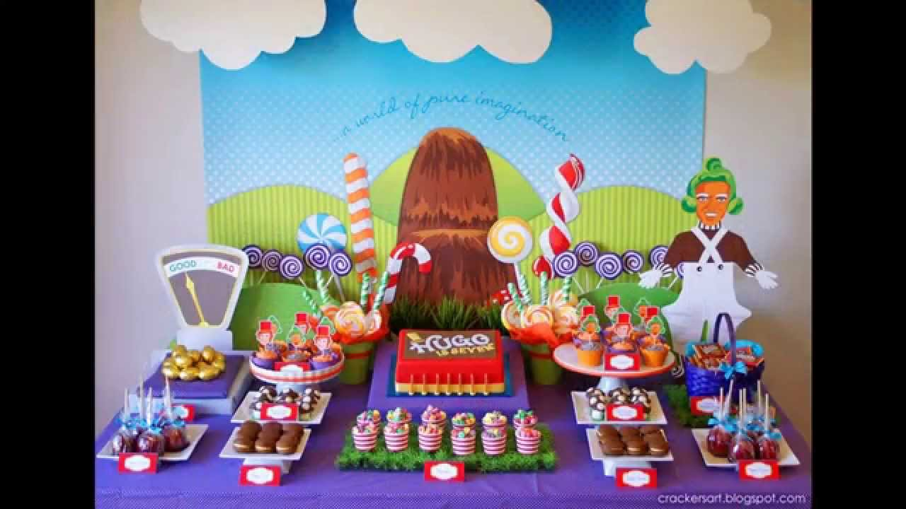 Kids birthday party ideas at home youtube for Home decorations for birthday party