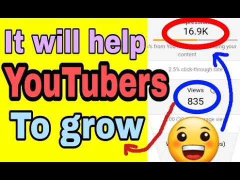 Good news for YouTubers || YouTube Studio new features updated || Impressions || Unique viewers ||