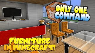 Furniture In Minecraft | NO MODS! | Only One Command Block | Minecraft Furniture Mod (Redstone)