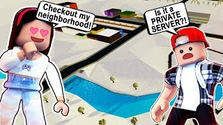 BUILDING A NEIGHBORHOOD in Bloxburg! *NEW* PRIVATE SERVER! ( Roblox Bloxburg Christmas Update )